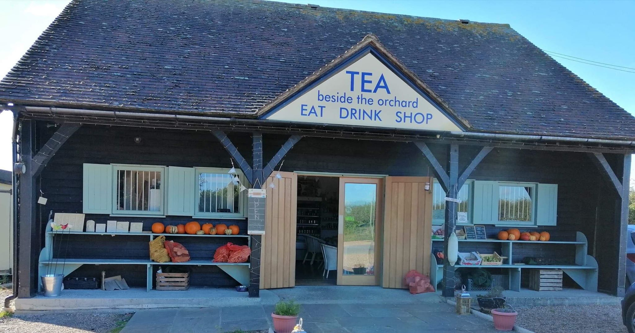 Tea Beside The Orchard Shop Front