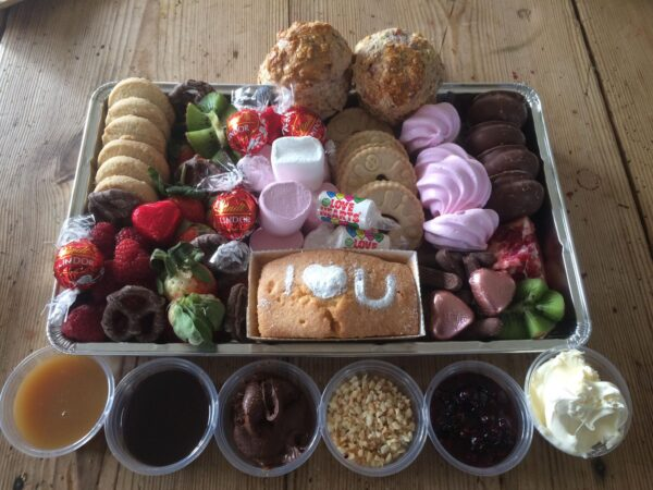 Tea Beside the Orchard Valentine's Day Sweet Platter