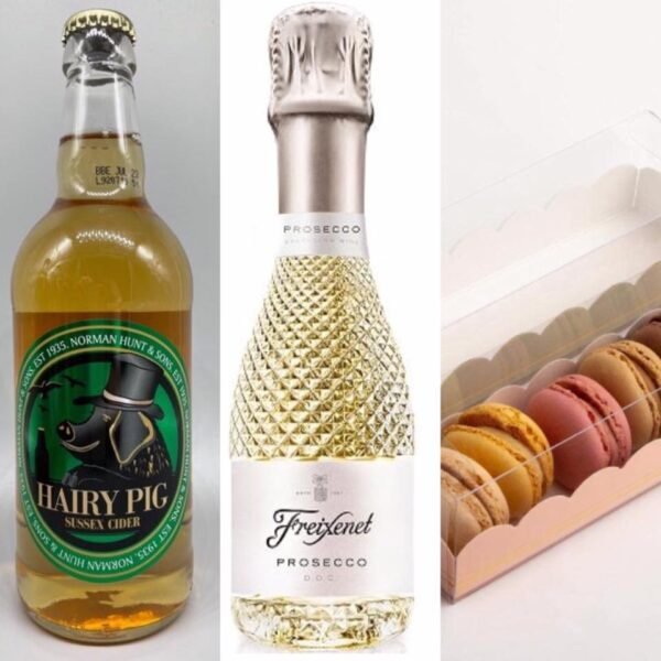 Tea Beside The Orchard Macaron and Prosecco or Local Cider